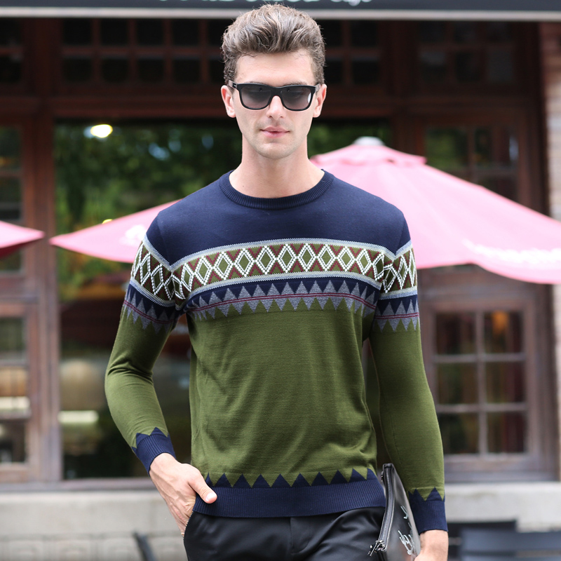 2019 New Fashion Brand Sweater Men Pullovers Slim Fit Jumpers Knitwear Woolen Christmas Autumn Korean Style Casual Clothing Male