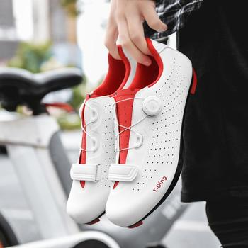 цена на Men's Road Bike Clip-in Cycling Shoes For All Road and SPD Pedals