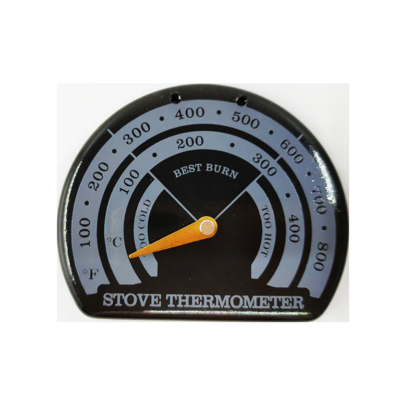 Stove Pipe Thermometer Magnetic Coal Wood Burning Temperature Measure 85*70*9mm Home Accessories Stainless Steel