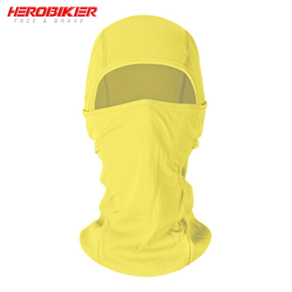 HEROBIKER мотоциклетная Балаклава маска для лица мото теплая ветрозащитная дышащая страйкбольная Пейнтбольная велосипедная Лыжная маска для лица мужской солнцезащитный шлем - Цвет: BE-09