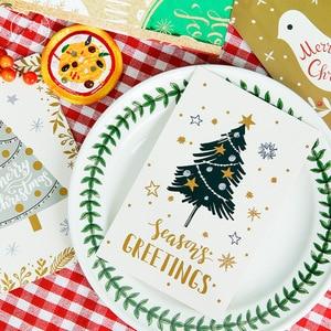 Image 4 - 60pcs חג המולד גלויות סט מתנת כרטיסי Postales חמוד סנטה איש שלג הודעה כרטיס חגים דקורטיבי DIY סיטונאי