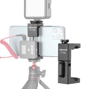 Image 1 - Беспроводной держатель для телефона Ulanzi, с клипсой для телефона с холодным башмаком, светодиодный светильник, штатив для видеосъемки микрофона