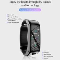 Reloj inteligente B6, pulsera resistente al agua con Bluetooth, auriculares de una sola oreja, monitor de ritmo cardíaco, rastreador de Fitness