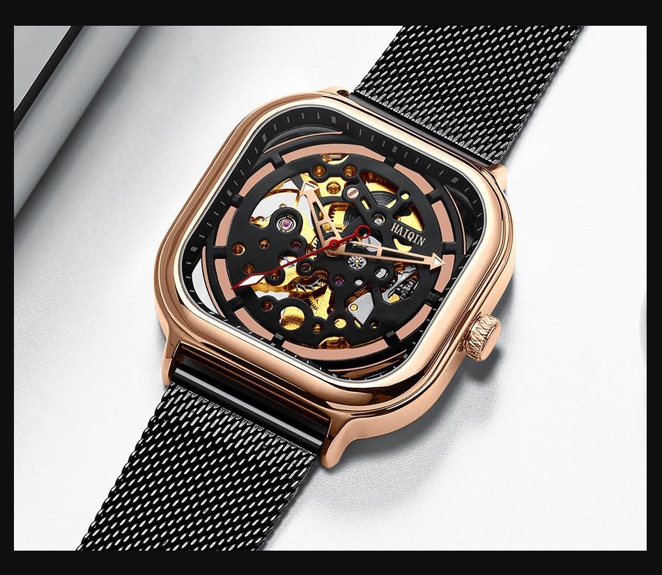 Haiqin relógios masculinos marca superior de luxo