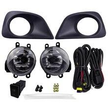 цена на Super Bright Car Fog Light Assembly For Toyota Yaris Sedan Belta 2013 Toyota Vios 2013 55W 12V Halogen Socket Styling Headlight