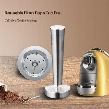 Para Caffitaly Tchibo Cafissimo ALDI Expressi, cápsulas de café rellenables k-fee, filtros...