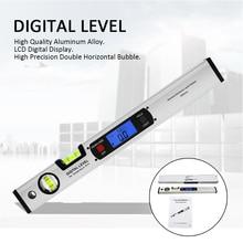 Level Upright Inclinometer Goniometer Digital Angle Electronic Backlight Finder Level 360 Degree Range Protractor