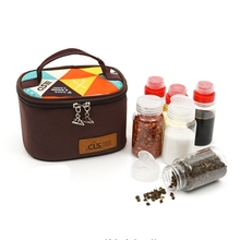 Out Camping Portable Spices Seasoning Jar Bag BBQ Organizer Bottles Set Outdoor For Fishing Hiking Picnic