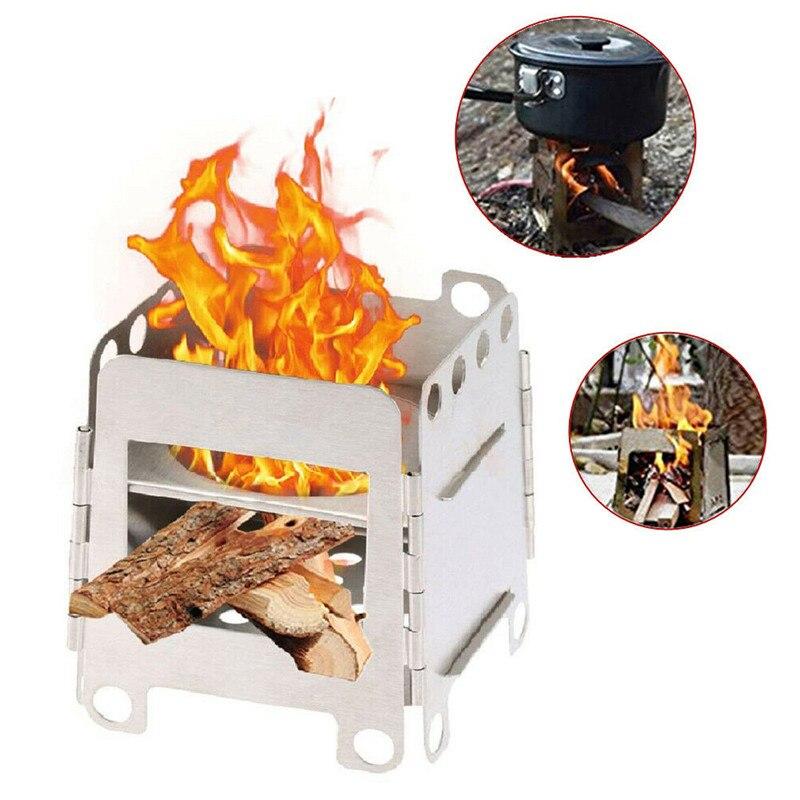 Наружная Складная барбекю плита в комплекте портативный складной из нержавеющей стали для пикника деревянная плита для 2 до 3 человек
