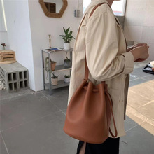 Fashion Bucket Bags Casual Solid Color Drawstring Messenger Bags Women Shoulder Bag Totes Ladies Luxury Pu Leather Crossbody Bag цена в Москве и Питере