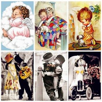 EverShine, pintura de diamante cuadrado completo para niños, punto de cruz, diamantes de imitación, bordado de diamantes, venta de manualidades para bebé, decoración del hogar