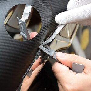 Image 4 - FOSHIO Carbon Faser Vinyl Film Wrap Auto Zubehör Kit Auto Fenster Tönung Schaber Magnet Aufkleber Rakel Auto Reparatur Werkzeuge
