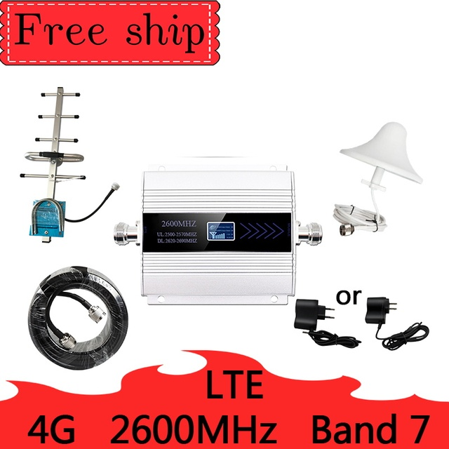 NEW 2600mhz  Band 7 Cellular Signal Booster Mobile Network Booster Data Cellular Phone LTE 4G 2600 MHZ Repeater  Amplifier
