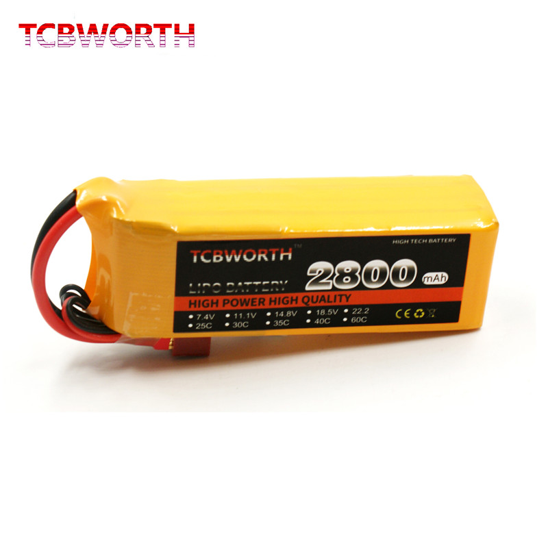 TCBWORTH <font><b>4S</b></font> Batteries 14.8V <font><b>2800mAh</b></font> 60C <font><b>4S</b></font> RC Drone <font><b>Lipo</b></font> Battery For RC Airplane Quadrotor Helicopter Drone Car Boat Batteries <font><b>LiPo</b></font> <font><b>4S</b></font> RC Toys AKKU image