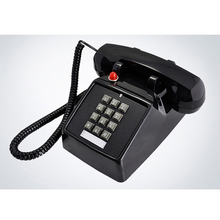 Dual Line Interface Corded Desk Telephone with Loud Ringer, Red Light Flash, Retro 1-Handset Landline Phone for Home, Office