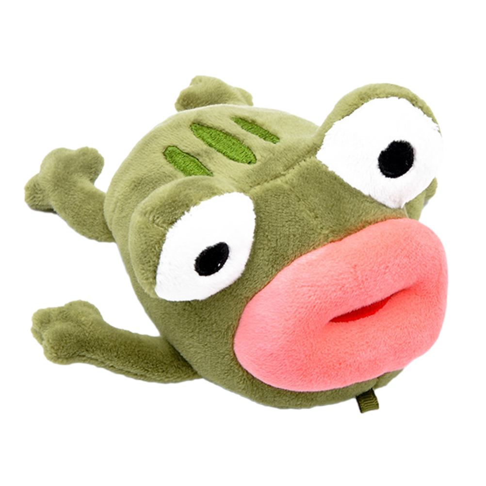 US Cartoon plush doll toy creative keychain cute big mouth frog pendant keychain