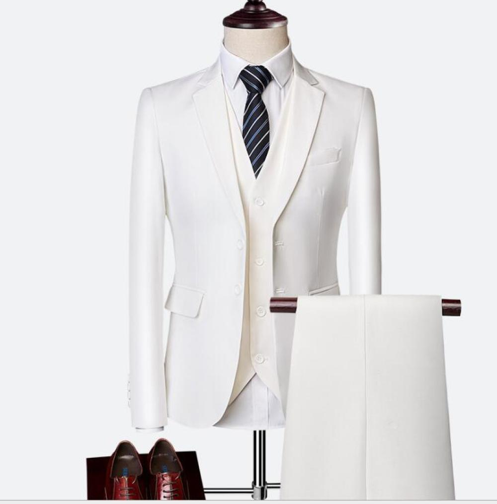 Mens Casual Business Suit Three Pieces Set Formal Wedding Tuxedos for Gentleman Prom Suit