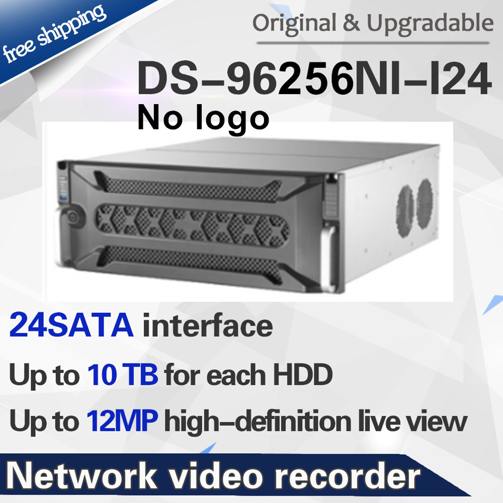 presale Original DS-96256NI-I24 no logo 256ch Hikvision H.265+ 4K NVR with 24 SATA ports