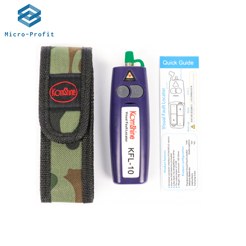 Mini10MW 20mWVFL Optical Fiber Cable Tester KFL-10 12km KFL-20 20Km Range 650+10nm Red Light Pen Fiber Optic Visual Fault Finder