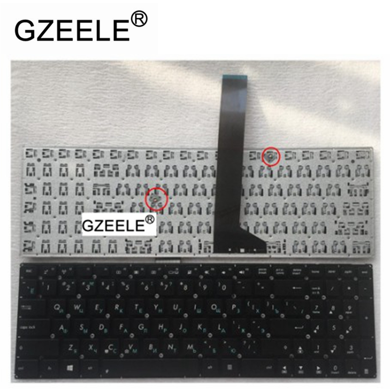 GZEELE Russian Laptop Keyboard For Asus X501 X501A X501U X501EI X501XE X501XI X502 S501U R502A R502U RU With Screw Posts