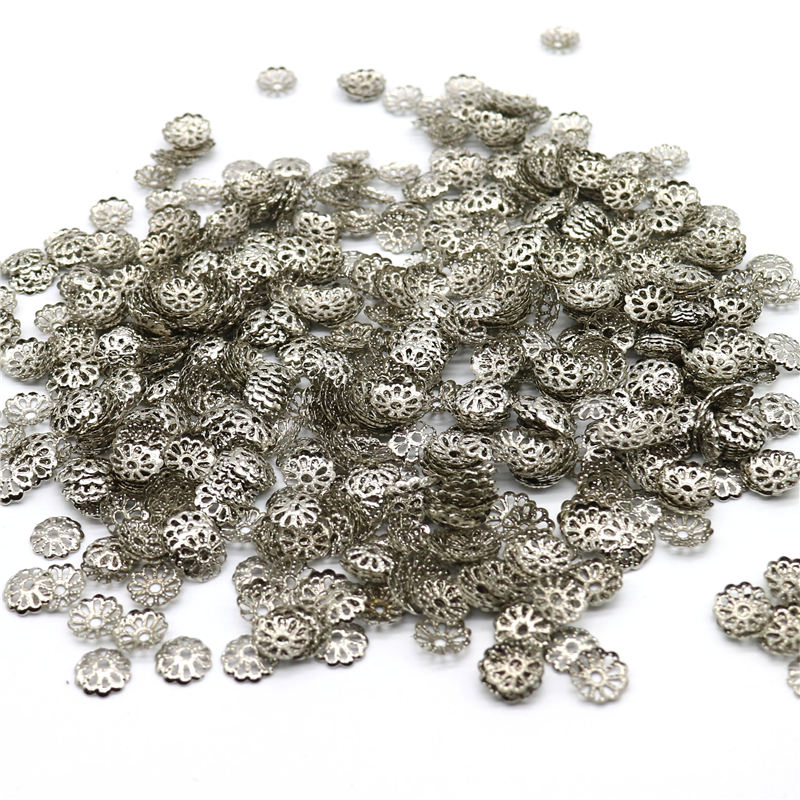 Jewelry & Access. ... Jewelry Findings & Components ... 32795046764 ... 4 ... 1000pcs/lot 6mm 9MM Silver Plated Flower petal End Spacer Beads Caps Charms Bead Cups For Jewelry Making(yiwu) ...