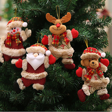 Christmas Ornaments Gifts Santa Deer Bear Snowman Tree Doll Home Decoration