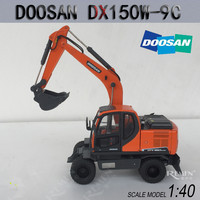New Collectible Diecast Model Toy 1:40 Doosan DX150W 9C Wheeled Excavators Construction Vehicle Toy for Display ,Business Gift