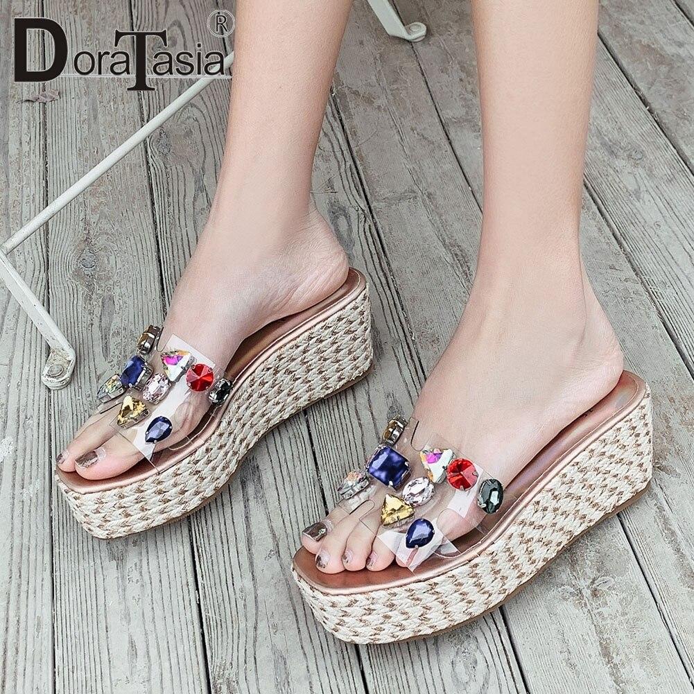 Купить сланцы doratasia женские прозрачные повседневные удобные туфли