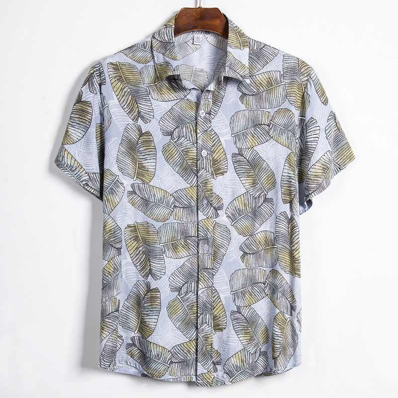 MJARTORIA 2020 Summer Men Casual Shirts Fashion Hawaiian Printed Short-sleeve Beach Shirts Holiday Floral Camisa Masculina