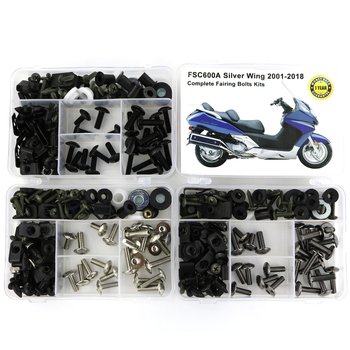 For Honda  FSC600A Silver Wing 2001-2018 Motorcycle Cowling Full Fairing Bolts Kit Speed Nuts Clips Screws Steel