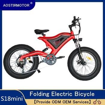 AOSTIRMOTOR elektryczny rower górski 4.0 20 cal rower elektryczny na grubych oponach Electric Beach rower śnieżny 500W EBike 48V bateria litowa
