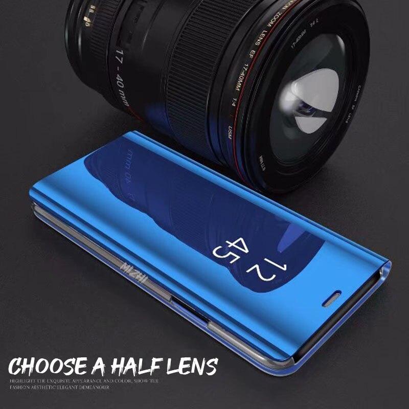 Capa de espelho de enchimento de smartphone, capa de enchimento de espelho inteligente para xiaomi redmi note 8 pro 7 8t 7a 8a k30, capa de visão clara mi cc9 note 10 9t pro 9 se 8 a2 lite a3 coque 2