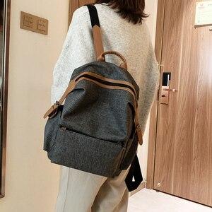 Image 3 - جديد Vintage المرأة على ظهره حقيبة كتف الإناث متعددة الأغراض حقيبة أنيقة ذات سعة كبيرة مدرسة حقيبة ظهر للفتيات كيس دوس