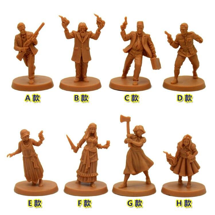 1:87 Resin Figure Model Kit Unassambled Eldritch Arkham Horror Mansions Madness Miniature Static Modelling DIY Toys Hobby Tools