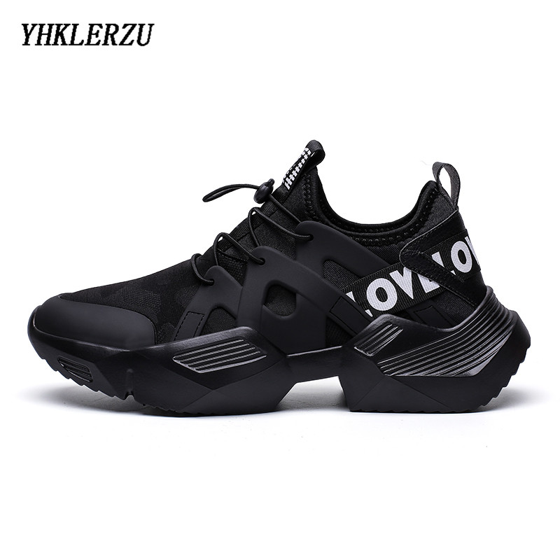 Mens Shoes Sports Shoes Male Vulcanized Shoes Breathable Black Sneakers Casual Running Shoes New Mens Sneakers Flat Sneaker - 2