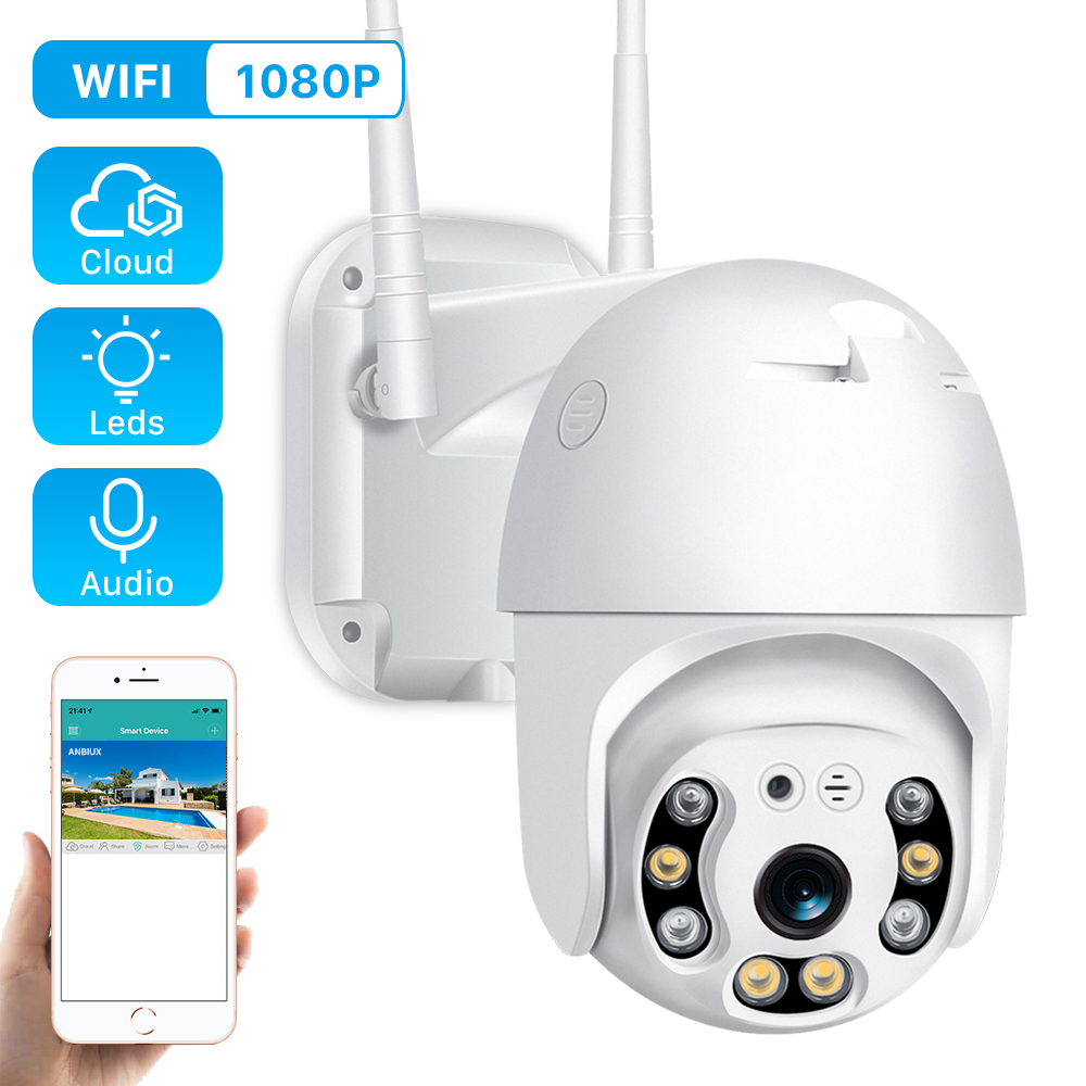 Camera Outdoor Speed-Dome Surveillance 2MP 1080p Wifi H.265 ONVIF Two-Way Cloud Audio-Home