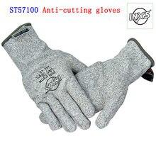 ST5700-guantes anticortes de cáñamo para mecánicos de seguridad industrial, 3 yardas grandes, Corte BladeX, tejidos de fibra, color gris