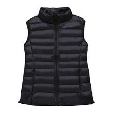 Vest Winter Padded-Jacket Women Sleeveless Duck-Down Warm Female Plus-Size Veats 4XL