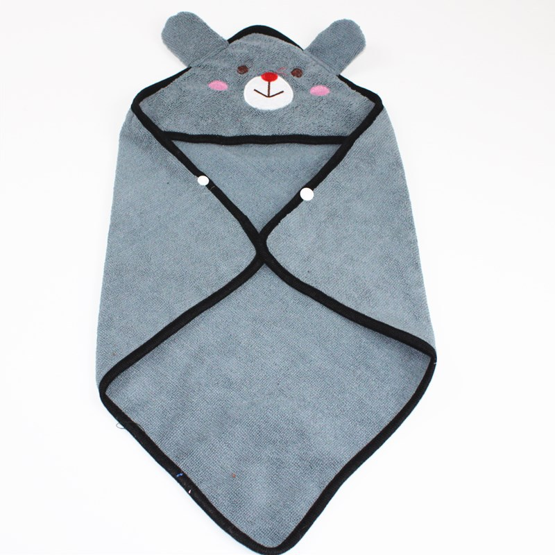 Cute Pet Dog Cat Towel Pets Drying Bath Towels with Hoodies Warm Blanket Soft Drying Cartoon Puppy Super Absorbent Bathrobes 11