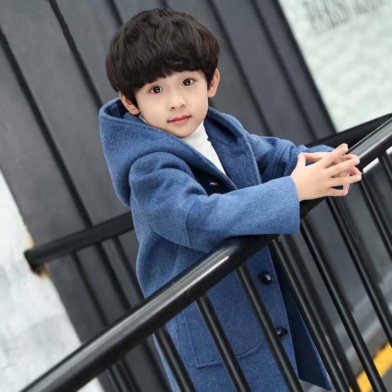 Boys Woolen Coat 2019 New Spring And Autumn Clothes Boy Jacket Children Woolen Coat Male Woolen Coat