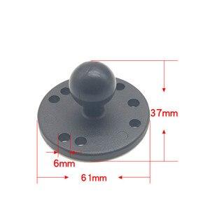 Image 2 - Jadkinsta 1 ou 1.5 polegada de borracha bola montagem para alumínio da motocicleta redonda base montagem quadrada para câmera gopro celulares