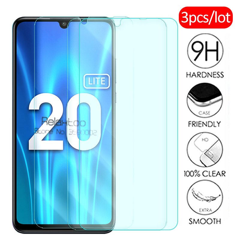 3pcs On Honor 20 Lite Glass Protective Glass For Huawei Honor 20 Lite Honor20 Light MAR-LX1H 6.15 Screen Protector Tempered Film