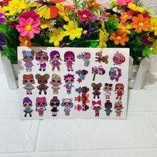 ЛОЛ Сюрприз куклы оригинальные татуировки стикер случайных 1шт фигурку мультфильм игрушки для девочек подарки на день рождения Лол