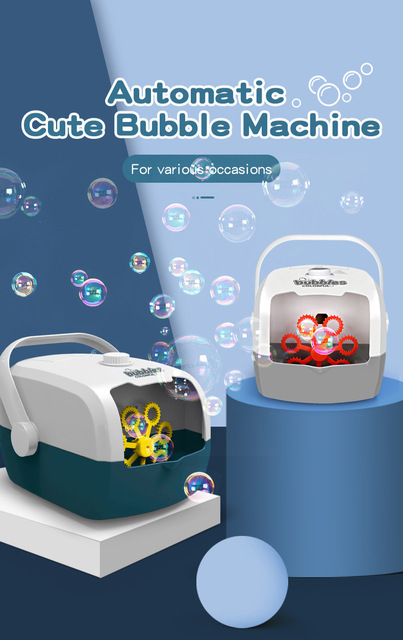 Bubble Machine Automatic Bubble Blower Party Birthday Wedding Bubble Maker Summer Outdoor Toy One-click Bubble With Charging Kid