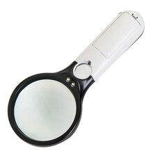 Двойной объектив с 3 светодиодными лампами ракетка ручной высокой чтения пластик со световым увеличительным стеклом