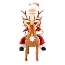 Рождественский Электрический Санта-Клаус Поющий танцующий Санта-Клаус кукла игрушка Новогодний подарок для детей игрушка Рождественское украшение