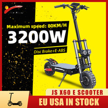 Electric Scooters Adults Big Wheel 3200w 60v самокат электрический with Seat 11 inch Off Road Tire 80KM Max Speed EU USA Stock