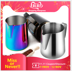 Stainless Steel Milk Frothing Pitcher Perfect for Espresso Machines Milk Frothers Latte Art Milk Jug Coffee Steaming Pitcher