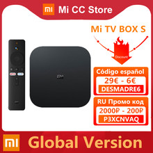 Versión Global Xiaomi funda para TV Mi S 4K Ultra HD Android TV 9,0 HDR 2GB 8GB WiFi Google Cast Netflix inteligente Mi caja de S reproductor de medios