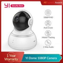 Yi dome câmera 1080p ip sem fio de vigilância segurança visão noturna versão internacional monitor do bebê cctv wi fi nuvem disponível